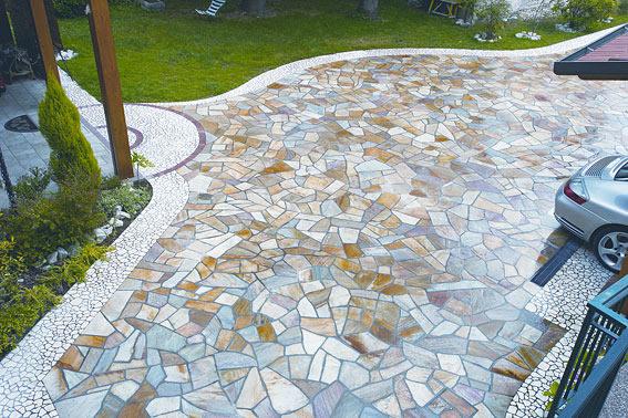 Pavimentazione esterna da giardino design casa creativa - Pavimentazione cortile esterno ...
